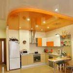 Натяжные потолки на кухне – совершенство интерьера
