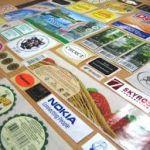 Реклама на печатной продукции: наклейках, шильдах, этикетках
